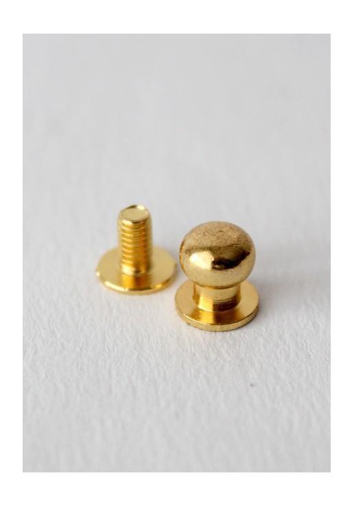 Bouton de col doré