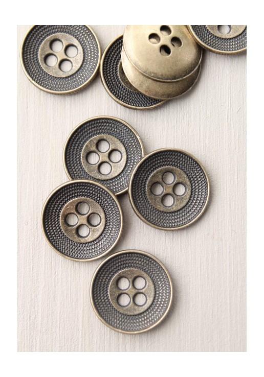 Bouton métal incrusté bronze