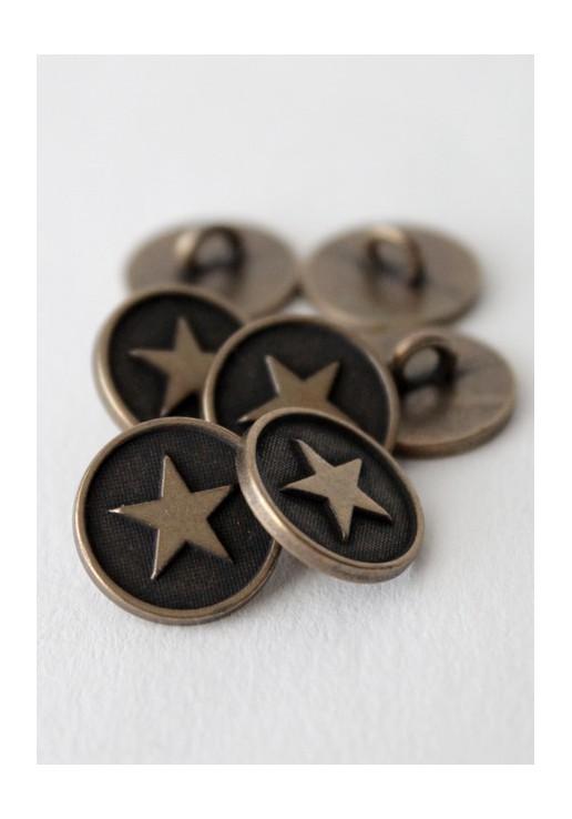 Bouton à queue étoile bronze