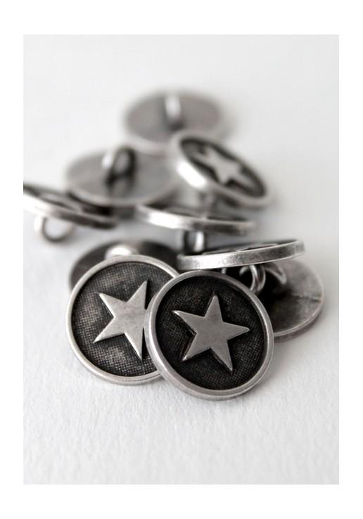 Bouton à queue étoile argenté