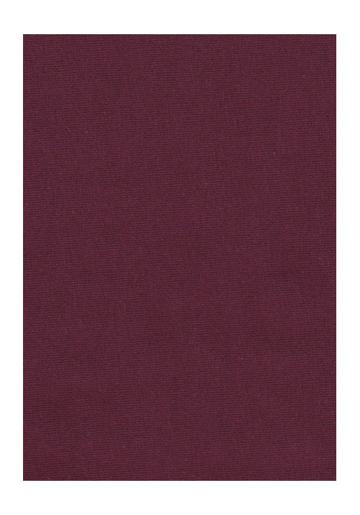 Tissu jersey coton bordeaux