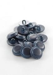Bouton imitation cuir bleu marine