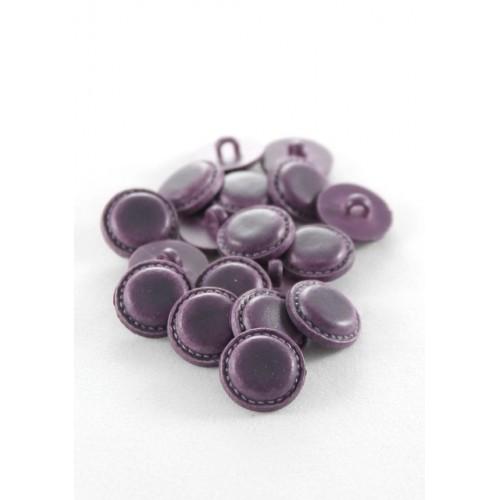 Bouton imitation cuir prune