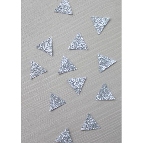 30 mini thermocollants triangles argentés