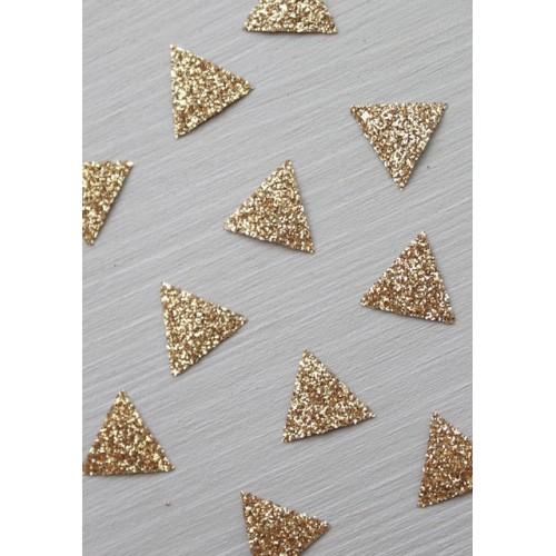 30 mini thermocollants triangles dorés