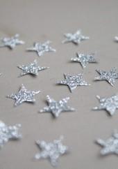 30 mini thermocollants étoiles argentés