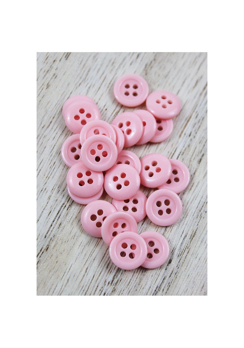 Bouton polyester - Rose clair