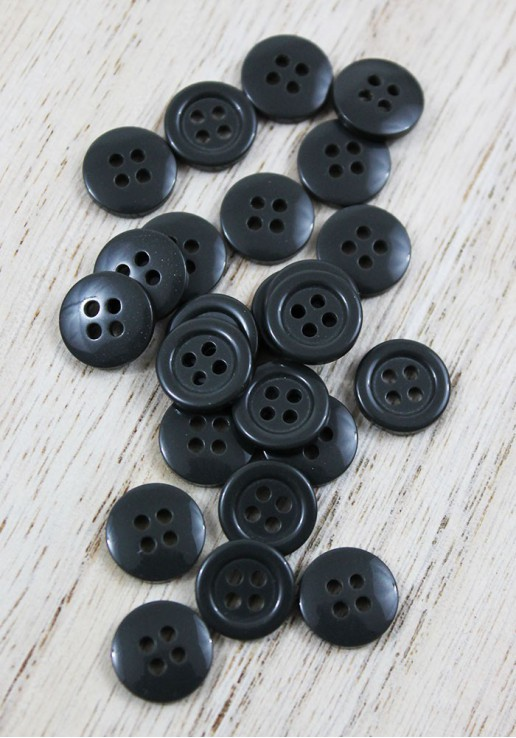 Bouton polyester - Anthracite