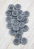 Bouton polyester - Gris