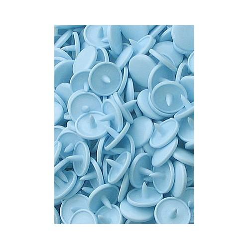 10 pressions KAM rondes *Bleu pastel B20*