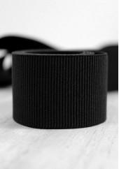 Gros grain élastique 36mm - Noir