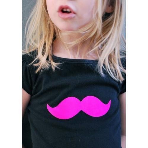 Motif thermocollant moustache