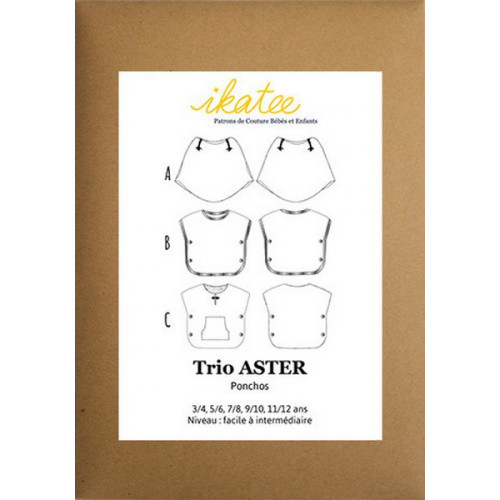 Patron trio poncho Aster - Ikatee
