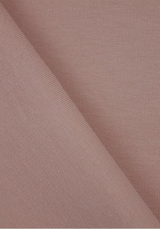 Tissu Molleton Fin - Rose poudré