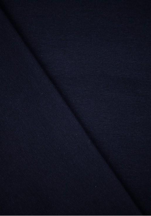 Tissu Molleton Fin - Bleu marine