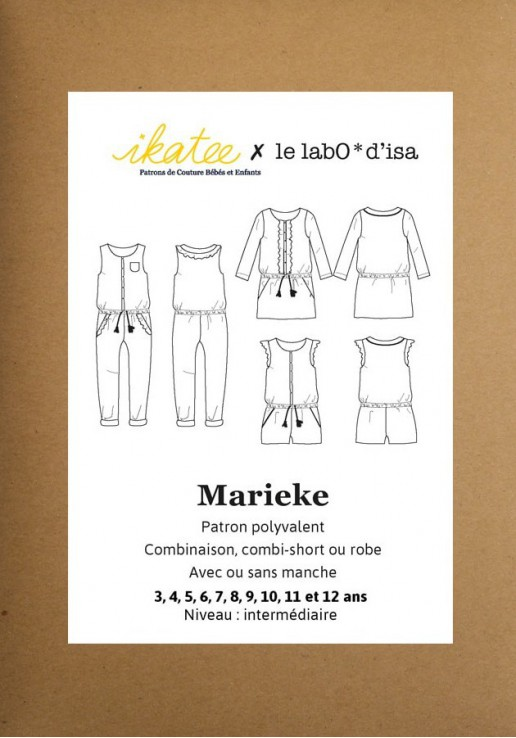 Patron combinaison/robe Marieke - Ikatee