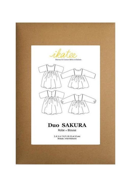 Patron robe et blouse Sakura - Ikatee