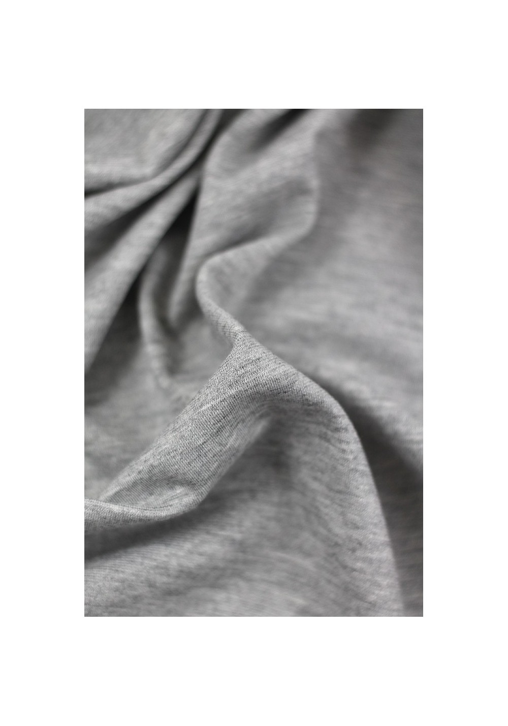 Tissu jersey milano - Gris chiné