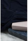 Tissu jersey modal flammé - Bleu marine