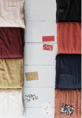 Tissu crêpe amarante - Atelier Brunette