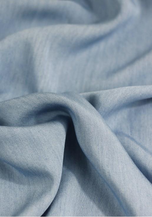 tissu tencel chambray bleu
