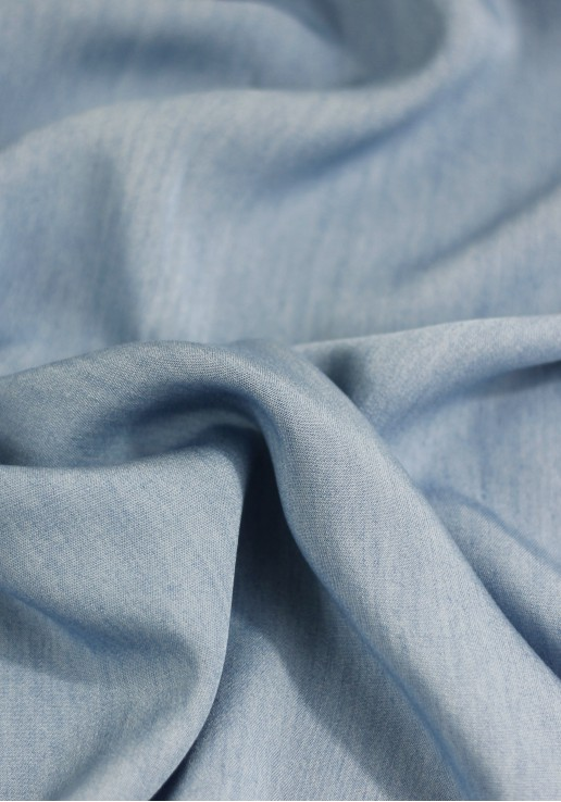 Viscose chambray bleu light