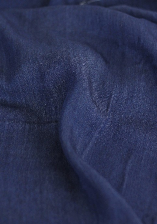 Viscose chambray bleu brut