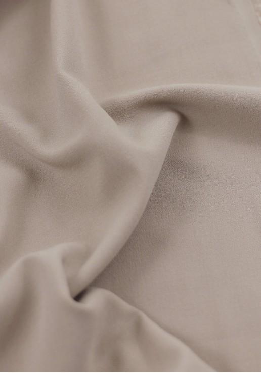 Tissu crêpe lourd nude
