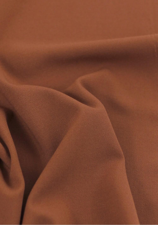 Tissu crêpe lourd rouille