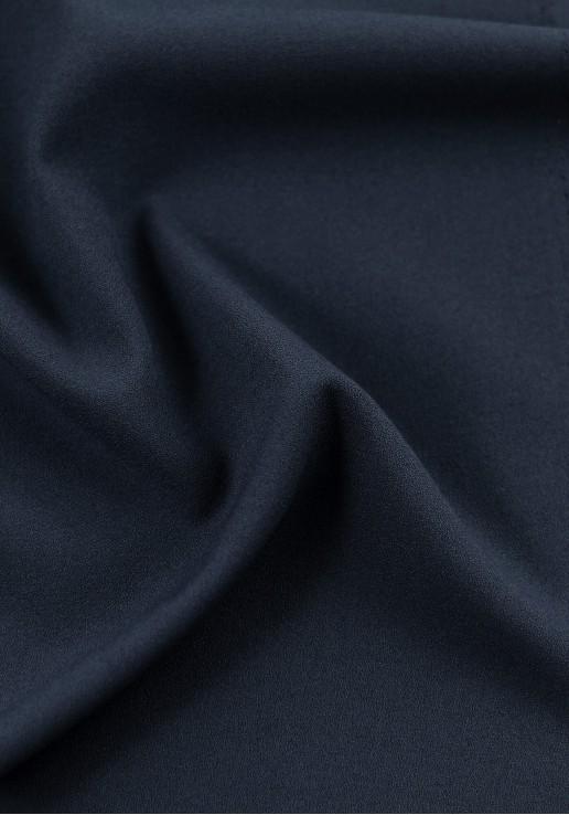 Tissu crêpe bleu marine
