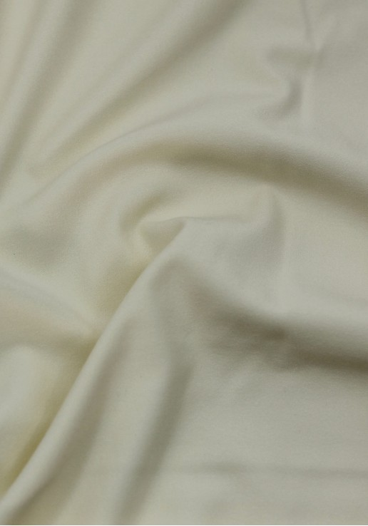 Tissu crêpe lourd vanille
