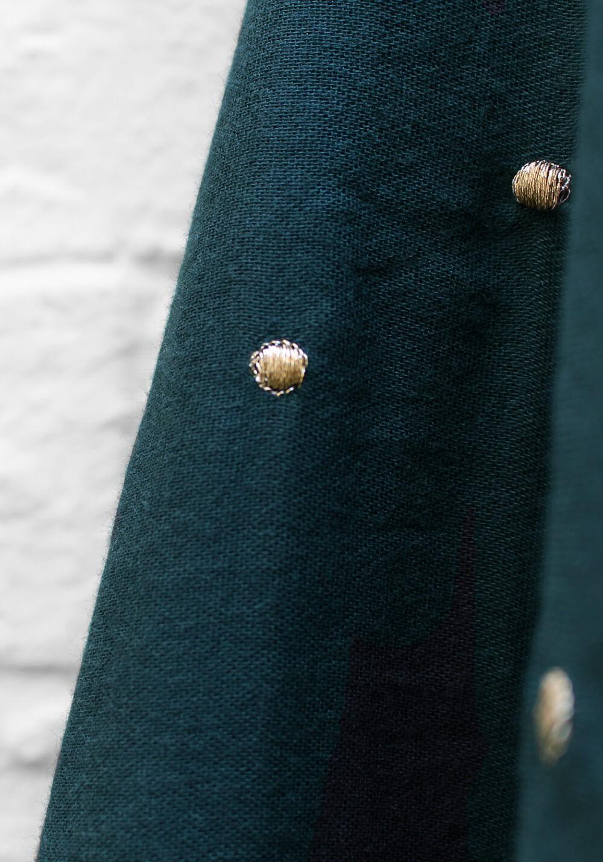 Tissu double gaze à pois or - Forest