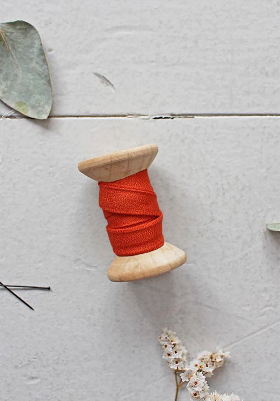 Biais Atelier Brunette - Crêpe tangerine