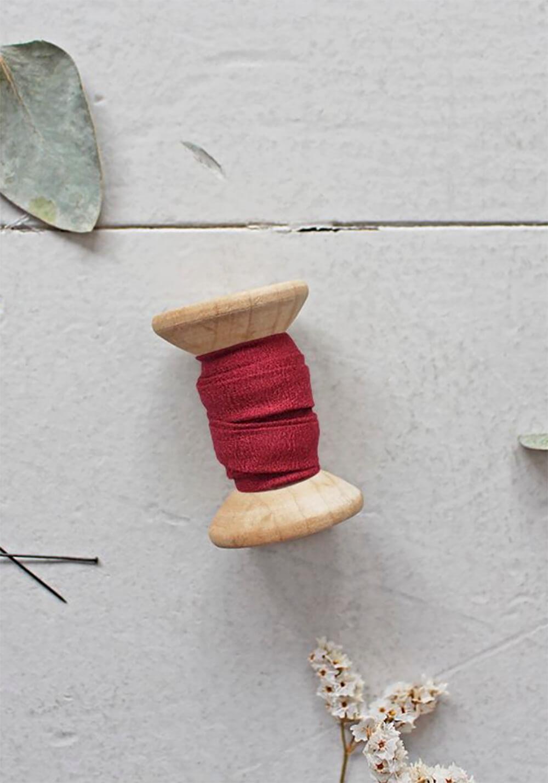 Biais Atelier Brunette - Crêpe Amarante