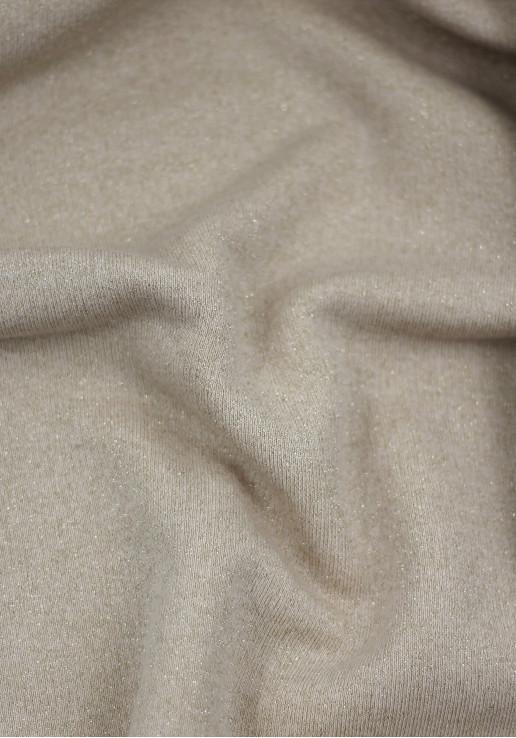 Tissu molleton à paillettes or - Nude