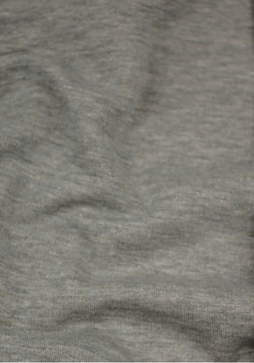 Tissu molleton à paillettes or - Gris clair