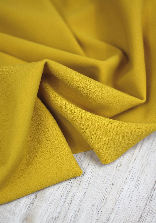 Tissu jersey crêpe - Moutarde