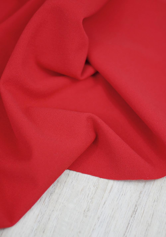 Tissu jersey crêpe - Rouge