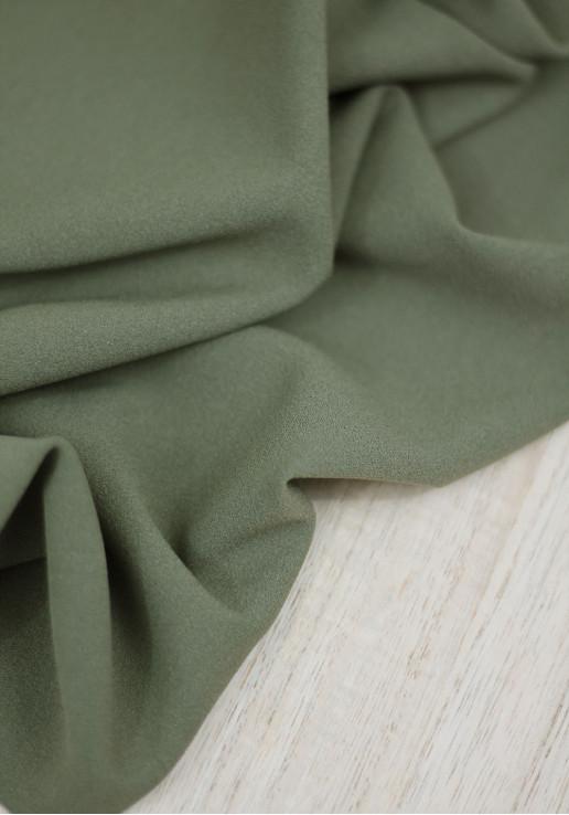 Tissu jersey crêpe - Kaki
