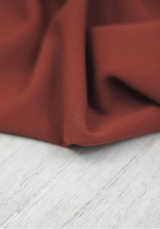 Tissu jersey crêpe - Rouille