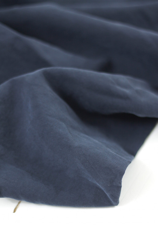 Tissu viscose texturé - Bleu marine