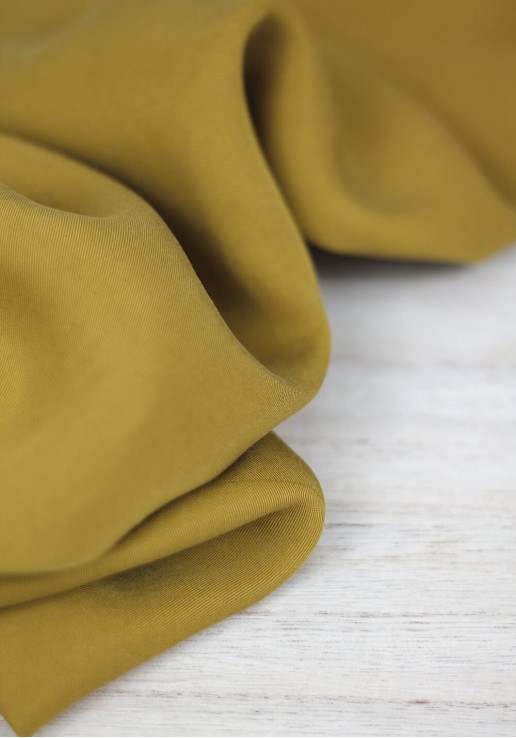 Tissu Lyocell - Moutarde intense