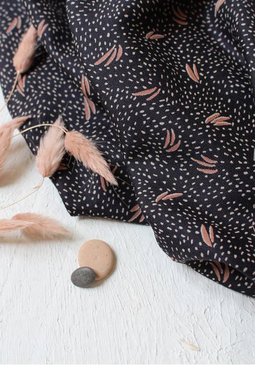 Tissu Crêpe de viscose Dune Night - Atelier Brunette