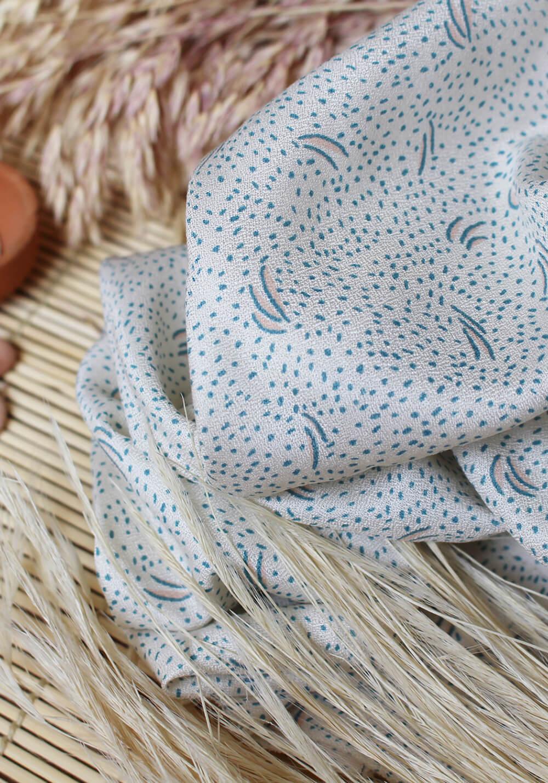 Tissu Crêpe de viscose Dune Off White - Atelier Brunette