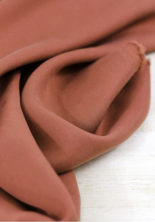 Tissu tencel - Terracotta