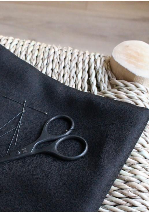 Tissu crêpe black - Atelier Brunette