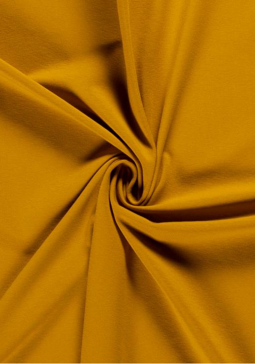 Tissu jersey de coton - Moutarde