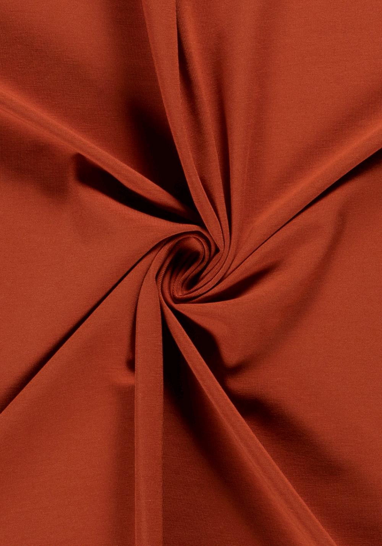 Tissu jersey de coton - Rouille