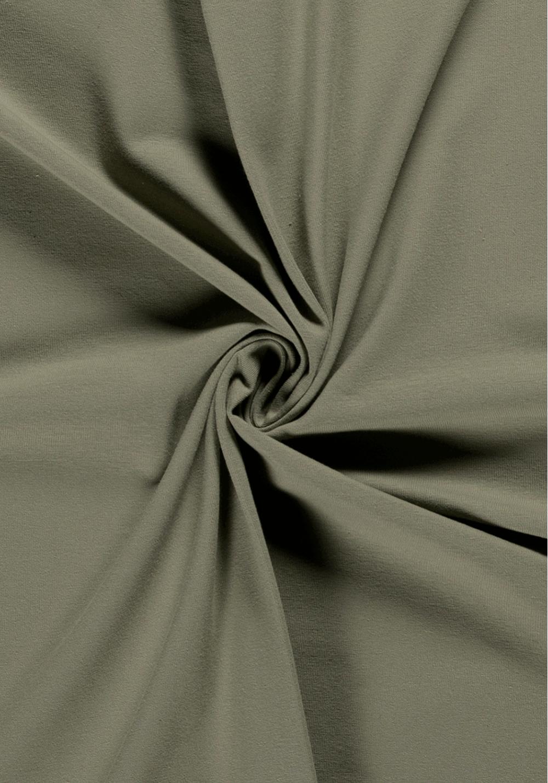 Tissu jersey de coton - Kaki