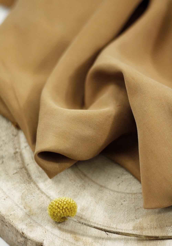 Tissu tencel - Terre de Sienne